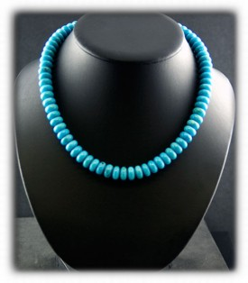 Blue Turquoise Fashion Bead Necklace