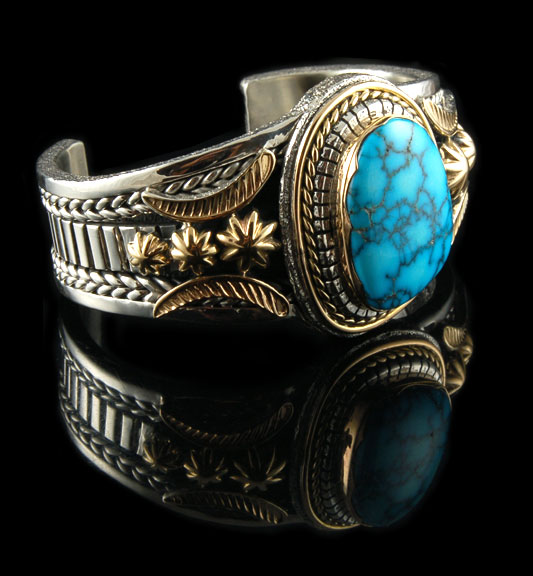 Silver and Gold Turquoise  Jewelry