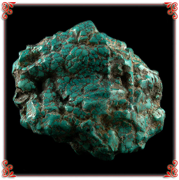 Huge 20 lbs Chinese Spiderweb Turquoise Rough Nugget