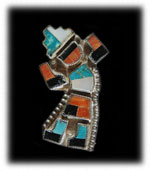 Old Pawn Zuni Inlay Pin