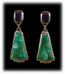 Silver Turquoise Jewelry Earrings