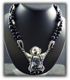 Silver Ore Necklace Handcrafted Turquoise Jewelry