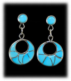 Classic Zuni Inlay Earrings