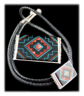 Inlay Turquoise Jewelry by Edison Yazzie