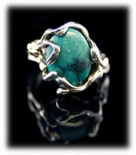 Lost Wax Fashion Turquoise Ring