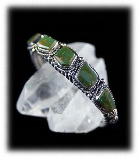 Green Turquoise Jewelry Bracelet