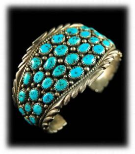 Cluster  Navajo Turquoise Bracelet