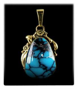 Paiute Turquoise Jewelry Pendant