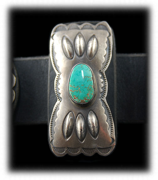 Lime Green to Blue Carico Lake Turquoise Concho Belt