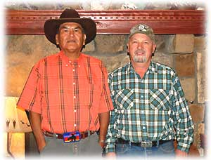 Richard Begay and John Hartman in Durango, Colorado