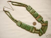 Santo Domingo Kingman Turquoise Bead Necklace