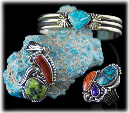 Turquoise and Silver Bracelets