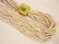 White Shell Santo Domingo Bead Necklace