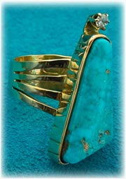 Gold Womens Turquoise Ring