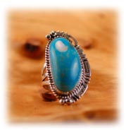 Classic Navajo Womans Turquoise Ring