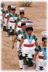 Zuni Native American Indians Parading with their Turquoise Jewelry