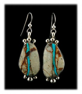 American Turquoise Earrings from the Ajax Mine