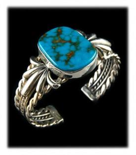 Blue Kingman Turquoise Bracelet