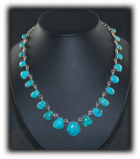 American Indian Necklace - Fox Turquoise