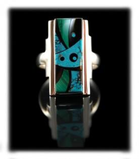 American Indian Turquoise Ring - Navajo Indian Handmade