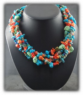 American Turquoise Bead Necklaces
