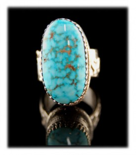 American Turquoise Rings with Kingman Turquoise