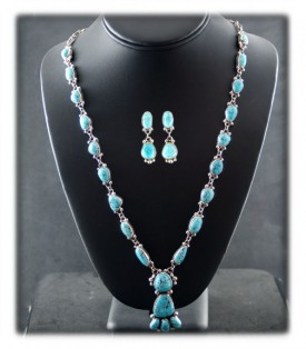 Godber Turquoise Necklace - Navajo Handmade