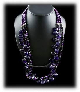 Amethyst Bead Necklace by Nattarika Hartman
