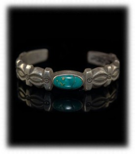 Antique Indian Silver Ingot Bracelet