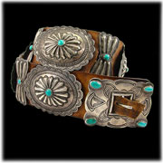 Antique Turquoise Jewelry Concho Belt