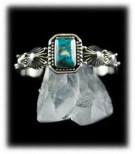 Antique Navajo Style Mens Turquoise Bracelet