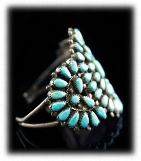 Antique Turquoise Cluster Bracelet