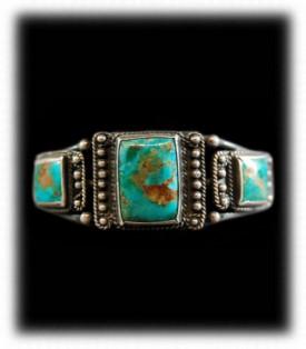 Navajo Silver Bracelet - Antique Western Silver Jewelry