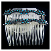 Zuni Petti Point Antique Turquoise Jewelry