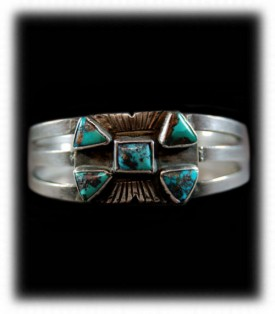 Antique Turquoise and Silver Bracelet