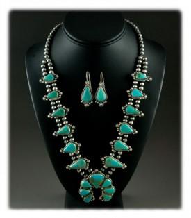 Aqua Blue Turquoise Necklace