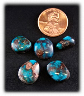 Authentic Natural Bisbee Blue Turquoise Cabochons