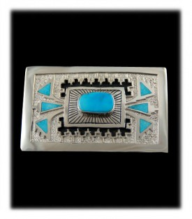 Genuine Native American  Belt Buckle