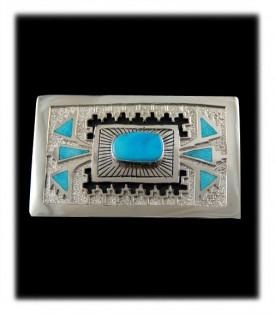 Genuine Native American  Belt Buckle