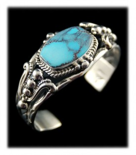 Baby Blue Colored Smoky Bisbee Turquoise Bracelet