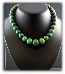 Green Turquoise Bead Necklace