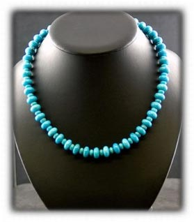 Blue Turquoise Bead Necklace