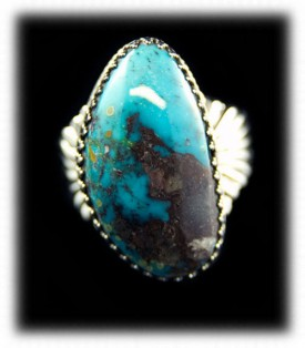 Bisbee Turquoise Mens Ring