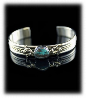 Bisbee Turquoise Bracelet - Bisbee Blue Inlay