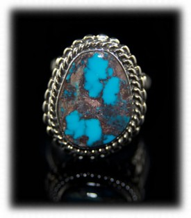 Bisbee Blue Mens Turquoise Ring