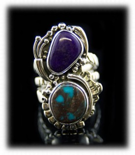 Bisbee Turquoise and Sugilite Ring