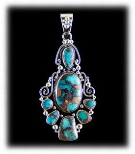 American Indian Handcrafted Bisbee Turquoise Necklace