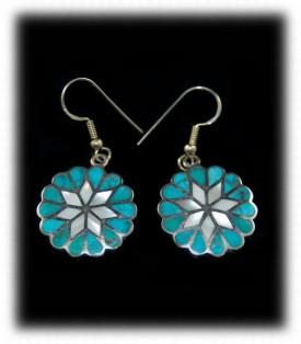 Inlaid Turquoise Dangle Earrings