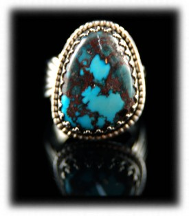 Bisbee Turquoise Native American Silver Rings