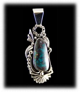 Bisbee Turquoise Pendant Necklace